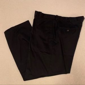 Haggar Black Slacks expandable waist fit 40